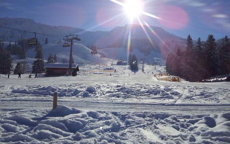 Ausblick von der Terrasse Jochalpin   Haus Alpenblick in Oberjoch